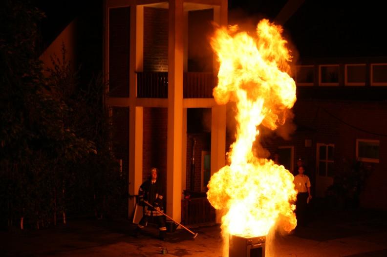 IMG 1217 -- Ob Fettexplosion oder Feuerwerk - Alle waren Feuer und Flamme